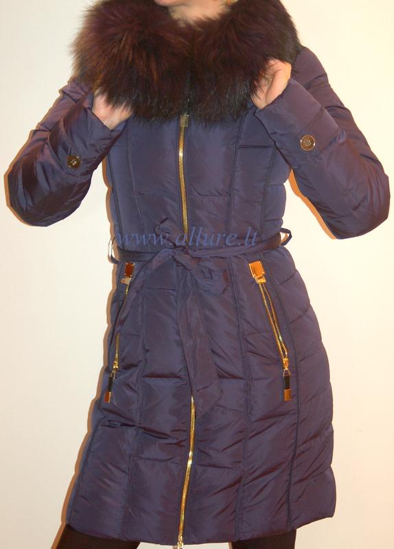 Молодежные женские куртки с натуральным мехом в капюшоне