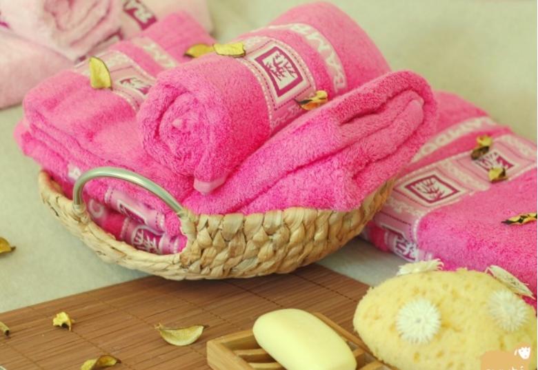 Купить Бамбуковые полотенца - кусты фуксии