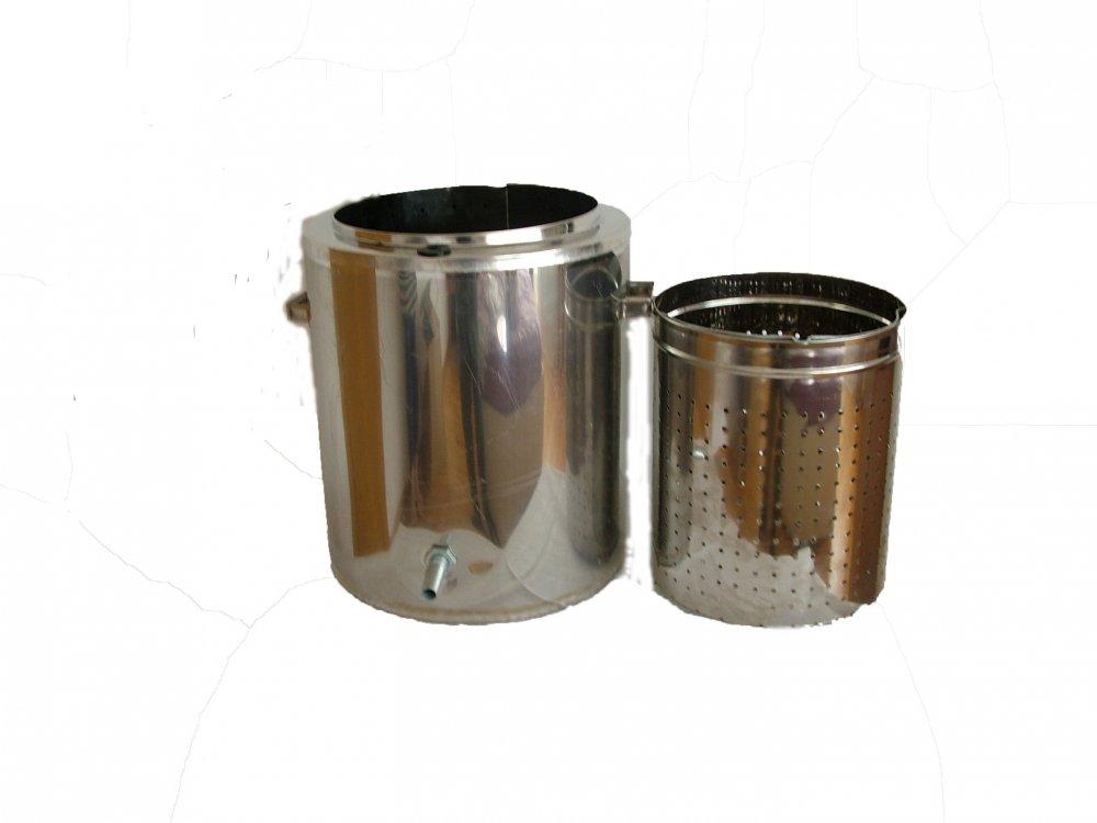 Купить Воскотопка паровая Нержавейка предназначена для переработки воскового сырья способом выплавления.
