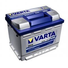 Аккумуляторы Varta 60 Ah Blue D24
