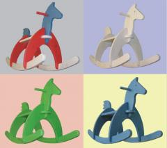 Деревянная игрушка лашадка-качалка