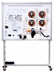 Учебный стенд антиблокировочной системы торможения и противоскольжения ABS/ASR