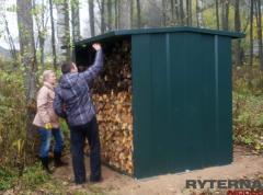 Дровяники — домики для хранения инструментов, складирования, сушки дров на удобном для применения месте