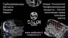 Ремонт турбин,продажа турбин,детали к турбинам в Литве.