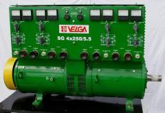 Сварочный генератор тип  SG-2x250 (двухпостовый)  , SG-4x250 (двухпостовый), SGE-4x250/5,5  (четырехпостовый) для питания дуговой сварки постоянным током