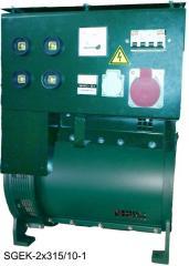 Универсальные сварочные генераторы SGEK-315/38 , SGEK-2x315/10, SGEK-2x315/10-1, SGEK-4x250/10