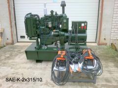 Универсальные сварочные агрегаты с конверторными генераторами тип SAE-K  для ручной дуговой сварки покрытыми электродами, а также для автоматизированной сварки в среде защитных газов