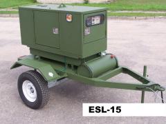 Электростанции и электроагрегаты серии ESL-15, мощность 15 кВА