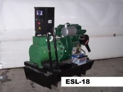 Электростанции и электроагрегаты серии ESL-18, мощность 18 кВА