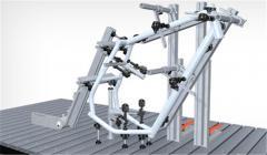 Крепежные системы сварочных устройств (сварочных столов) для гибкой работы в т-образных пазах