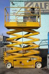 Электрические ножничные подъемники Haulotte Compact 12  Рабочая высота  12,00 m.  Высота платформы 10,00 m.  Грузоподъёмность 300 kg.