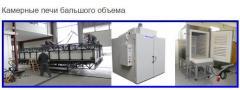 Камерные печи низкотемпературные среднего или большого объема периодичного действия