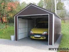 Metallic sectional garages
