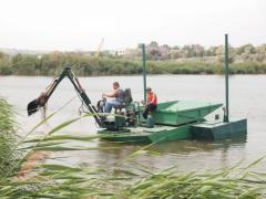 Плавающий мини экскаватор с кузовом FED25