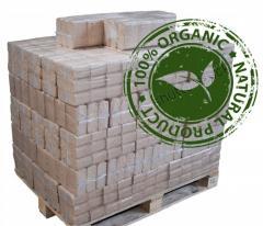 Ash sawdusd RUF briquettes – 100% ashed wood!