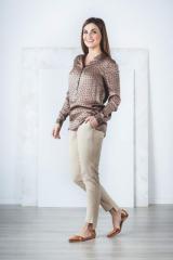 Шелковая блузка, дизайнерская одежда, 100% шелк.