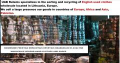 Sorted used clothes for Europe, Africa and
