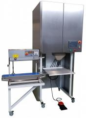 SVARAS-B Bulk product weighing-bagging machine into premade bags