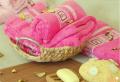 Бамбуковые полотенца - кусты фуксии