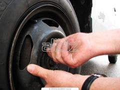 Балансировка колес, услуги по ремонту шин