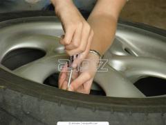 Монтаж шин автомобилей